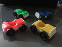 lot de 4 petites voitures fisher price