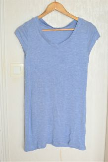 T-shirt long bleu chiné H&M - Taille M