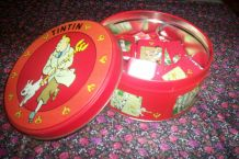 ancienne boite en métal bd TINITIN