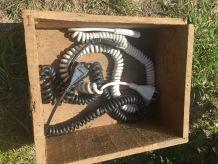 Rallonge électrique spirale année 70