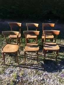 Lot de 6 Chaises bistrots style Baumann