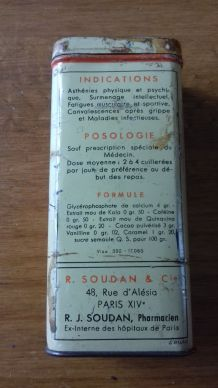 Ancienne boîte de médicament BIOPHORINE GIRARD