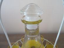 Service à liqueur granité jaune 50's