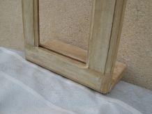 cadre arrondi en bois patiné