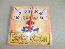 ancien plaque thermometre publicitaire