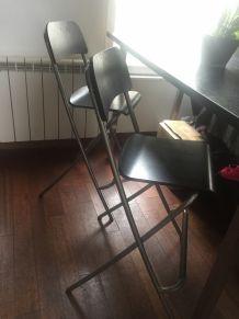 Table  haute et chaises design
