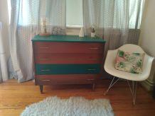Commode vintage scandinave bois-vert