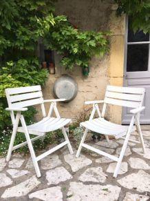 Paire de fauteuils de jardin années 60