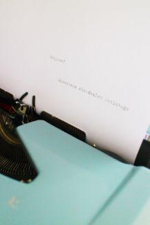 Machine à écrire Brother de Luxe 1960's