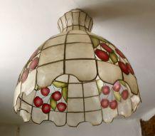 Luminaire plafonnier style Tiffany art nouveau