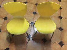 Chaise enfant jaune galvano technica