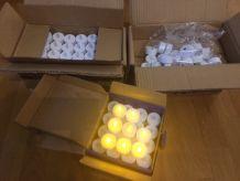 pots laitières + bougies LED