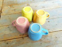 Tasses expresso quadricolore
