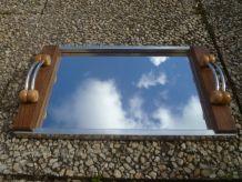 plateau miroir style art déco, vintage