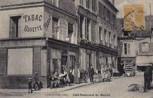 Carte Postale ancienne - COMPIEGNE (60) - Café-Restaurant du Marché