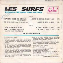 Les Surfs - Reviens vite et oublie - 45 t