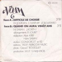 Noam - Difficile de choisir - 45 t