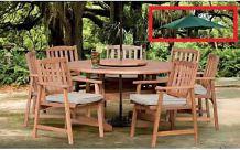 Table de jardin et 6 chaises en Teck NEUF