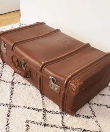 Malle valise marron vintage années 70