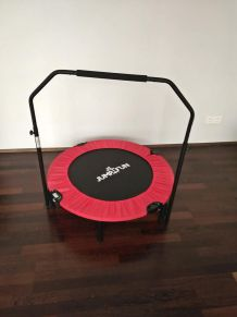 Trampoline fitness pliable double bar neufs