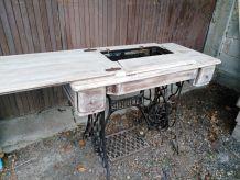 meuble ancien machine à coudre