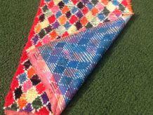 Tapis  Boucherouite Vîntage Berbere Made in AZILAL