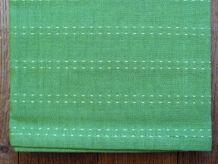 Chemin De Table / Nappe En 100% Coton Vert - Neuf- Tafelloper