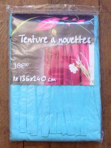 Rideau / Tenture À Nouettes En 100% Coton Bleu Turquoise- Neuf- Bali
