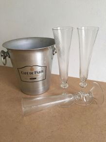 """Seau à champagne """"Café de Paris"""""""