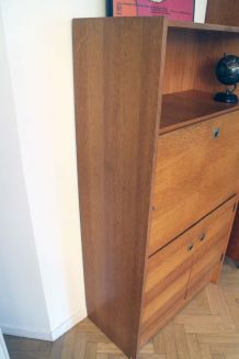 Secrétaire bureau vintage style scandinave années 50