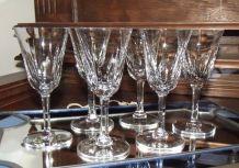 Suite de 6 verres à porto cristal St Louis