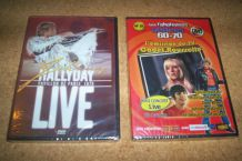 LOT 2 DVD JOHNNY HALLYDAY NEUF