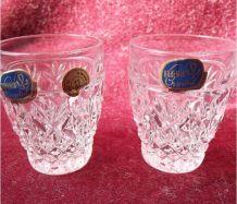 Coffret 2 petits verres cristal de Bohème