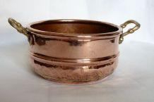 Cache-pot cuivre et laiton