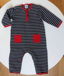 Combinaison Petit bateau en jersey lourds mixte 18 mois