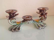 Bougeoir triptyque vintage Fat Lava Û Keramik