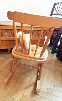Rocking chair vintage enfant 70's