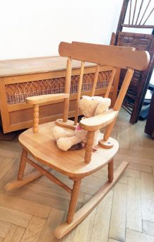 Rocking chair vintage enfant 70's