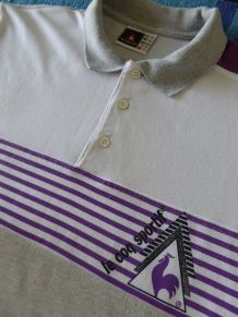 Polo Gris (M) neuf du COQ SPORTIF vintage 1990 (TBE)