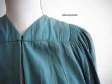 Robe de chœur/diplômé vert d'eau vintage 50's 60's