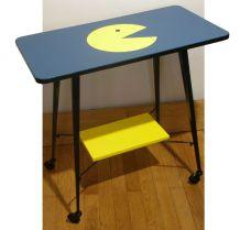 """Table télé à roulette années 70 """"Packy"""""""
