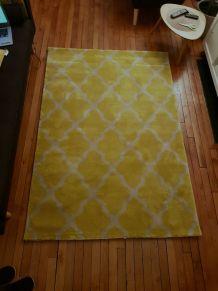 Tapis jaune et gris 140×200cm