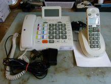 Téléphone filaire à grande touches