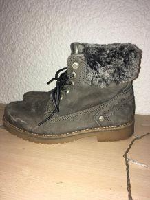 Boots vernies - La Redoute Collections - Gris UniLa Redoute Collections