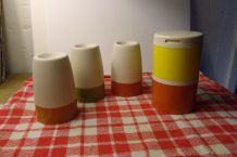 "Lot ""TUPPERWARE"" VINTAGE - Pots à épices et coquetiers"