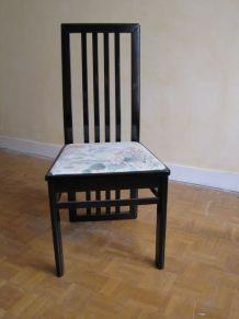 Table salle à manger loupe d'orme + 4 chaises