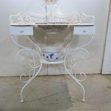 Coiffeuse vintage , table de toilette romantique