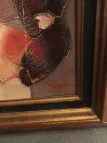 Huile sur toile originale Rougié