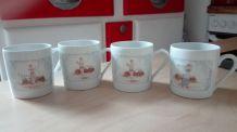 4 jolies tasses à café