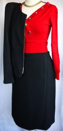 Jupe noire Elisabeth Hillert Paris, taille 40